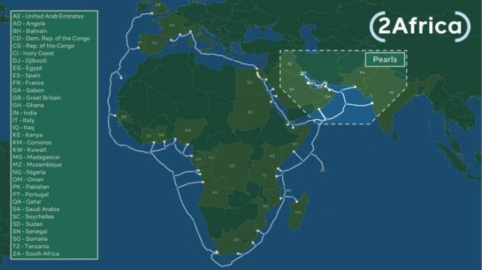 Facebook, Facebook connection, Facebook transatlantic submarine cable, Facebook 2Africa Pearls, Facebook Terragraph