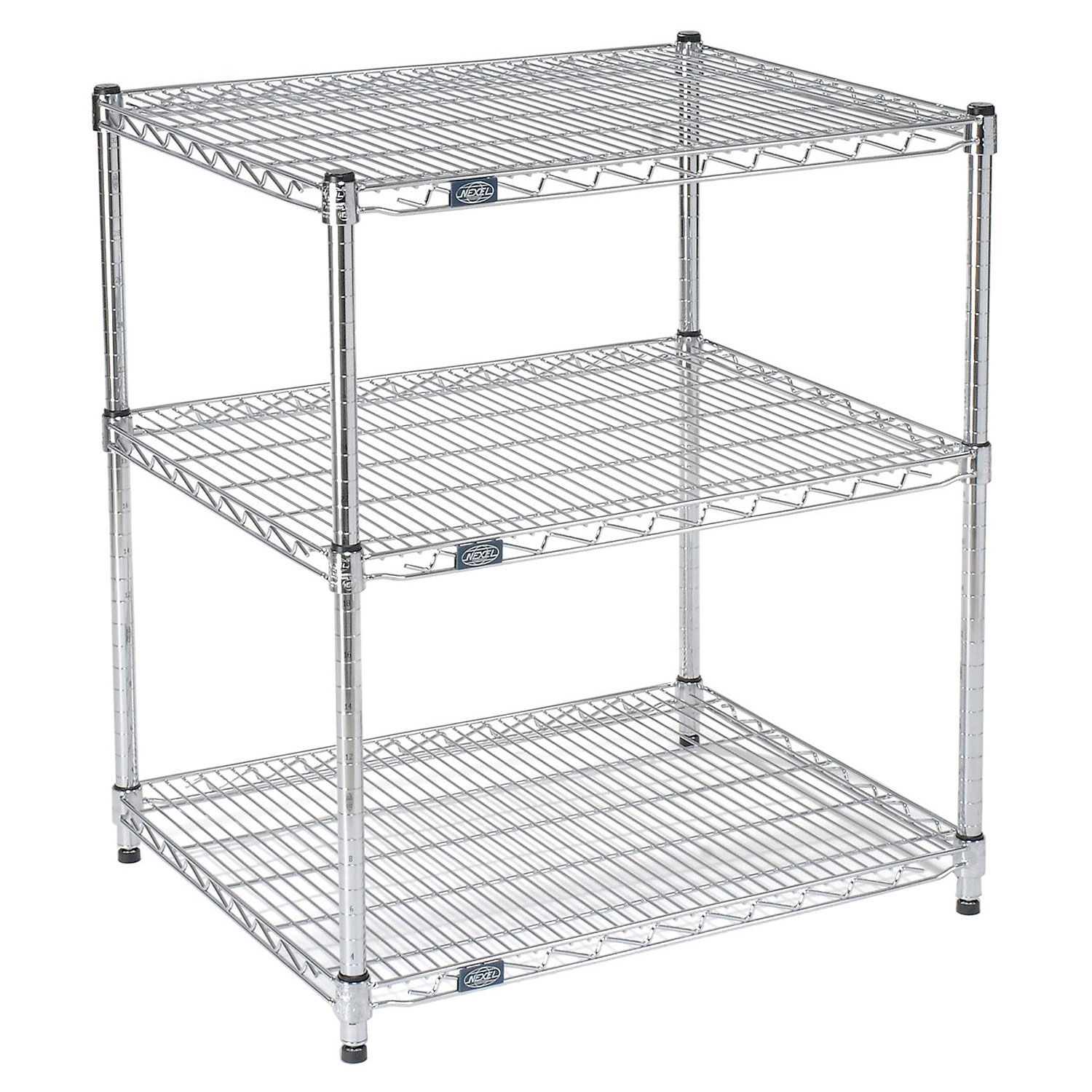 Chrome Wire Printer Stand 3 Shelf 30 W X 24 D X 34 H