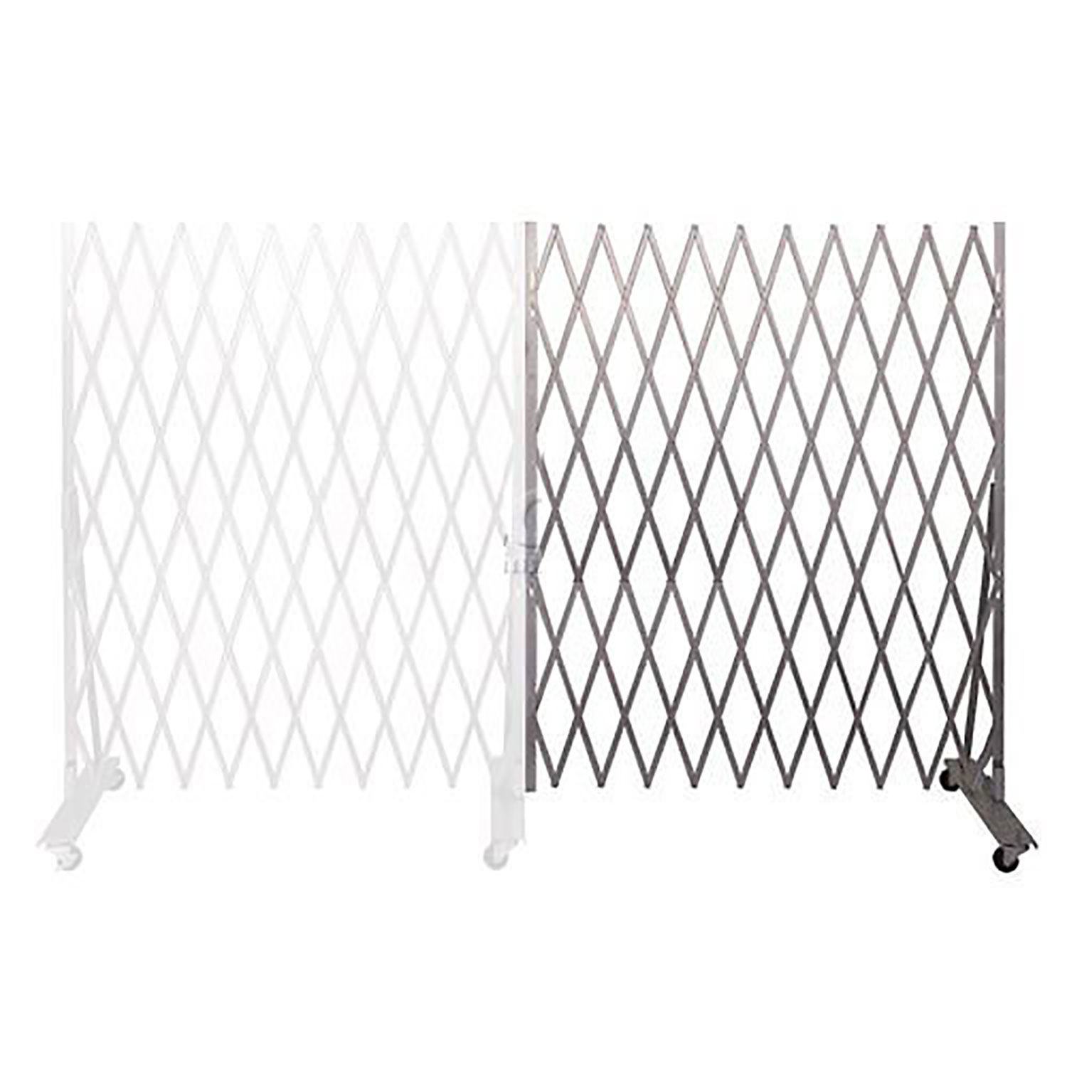 Mobile Folding Security Gate Add On 6 6 H X 6 W In Use