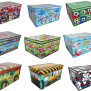 Storage Box Chest Kids Boys Childrens Toy Clothes Bedding