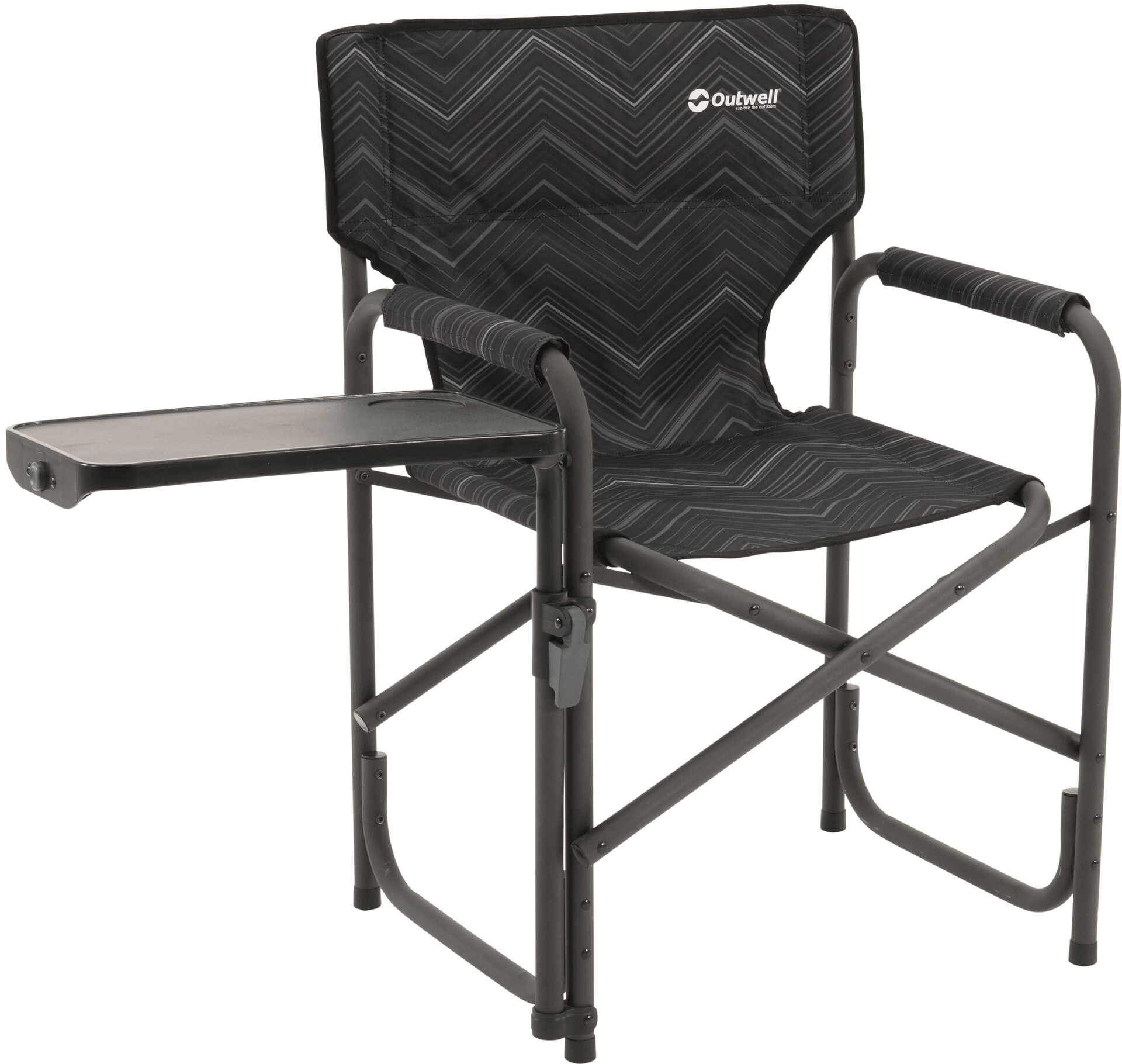 folding chair with side table best posture support outwell chino hills black
