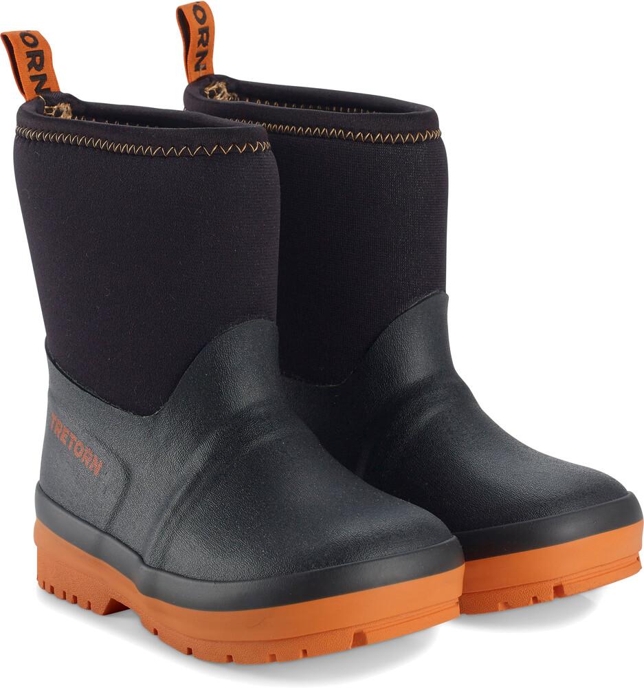 Tretorn Kids Kuling Neoprene Rubber Boots Black