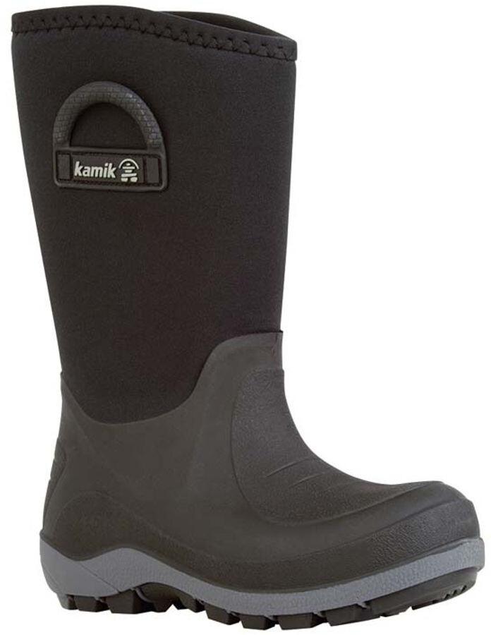 Kamik Bluster Rubber Boots Kids Black campzde