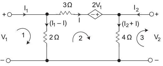 Calculate Z parameter for the circuit given below—