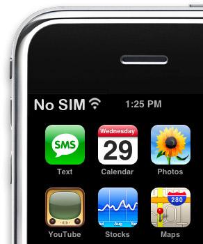 my iphone says no sim morning at apple or no sim sign of 2958