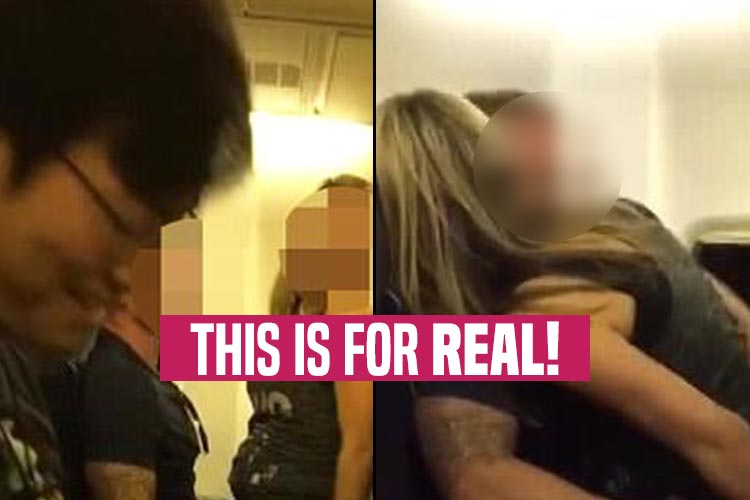 Couple starts having sex on a plane This is how