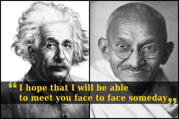 Why did Albert Einstein have great admiration for Mahatma