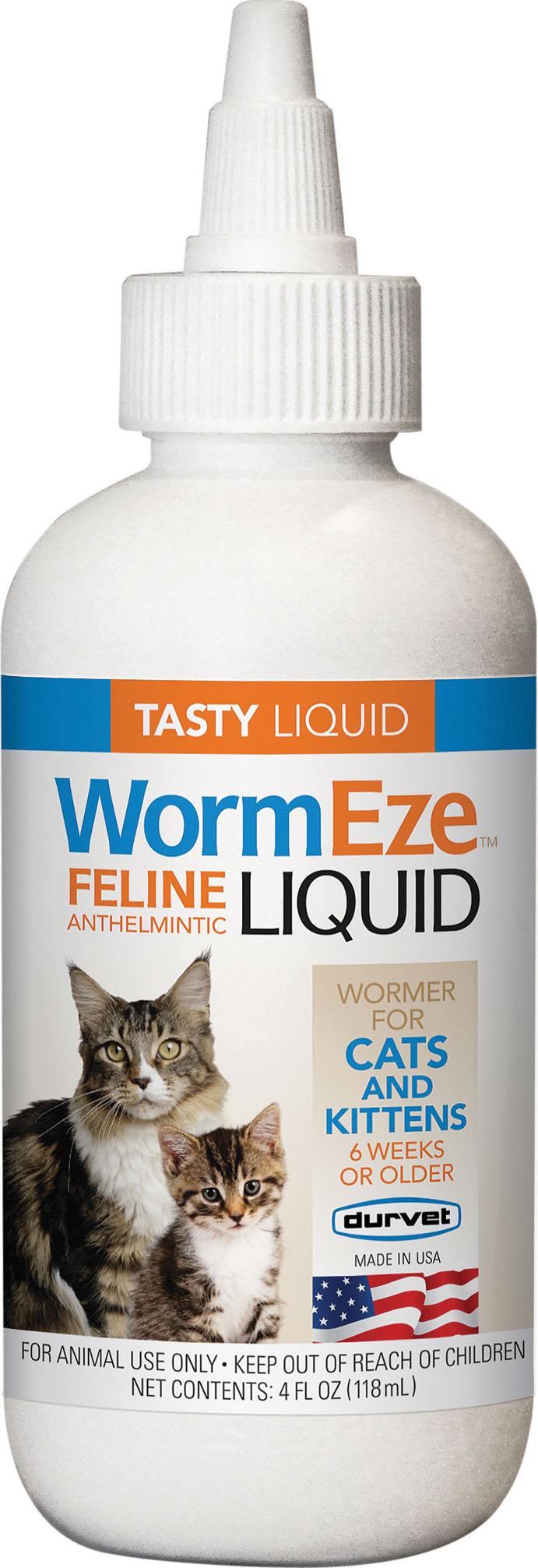 Durvet-Pet D-Wormeze Feline Anthelmintic Liquid 4 Ounce ...