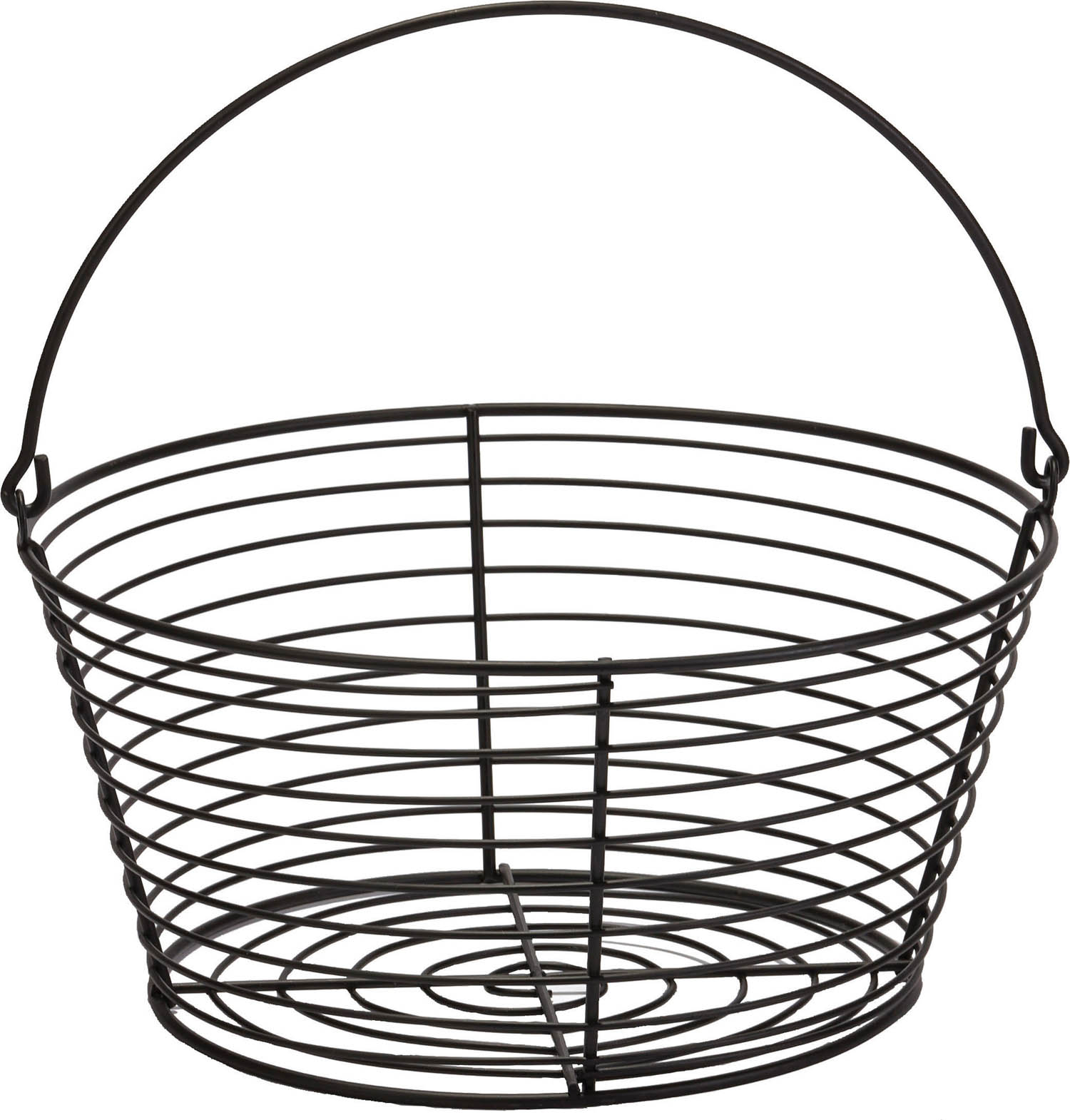 Miller Mfg Co Inc P-Little Giant Egg Basket- Black Large