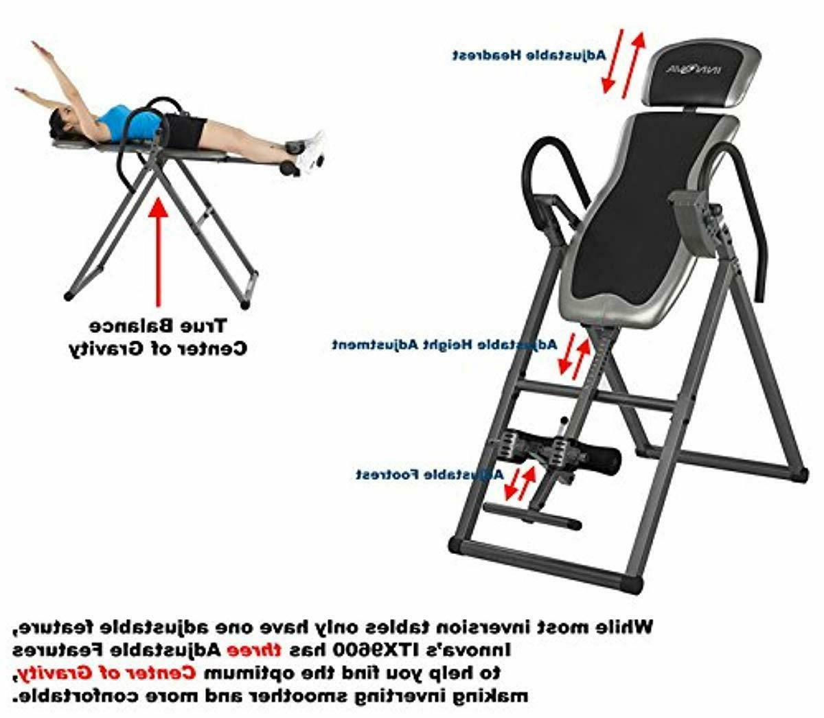 Gravity Inversion Table Fitness Back Pain Relief Exercise