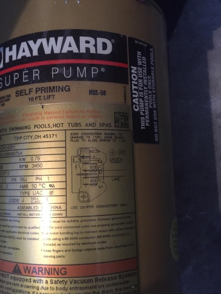 hayward pool pump wiring diagram 2003 ford escape engine super 1 horse