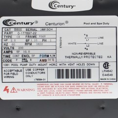 Ao Smith Electric Motor Wiring Diagram Clipsal 2 Way Light Switch Magnetek A.o. Hp, 56y Frame, Up-rate - B855 Inyopools.com