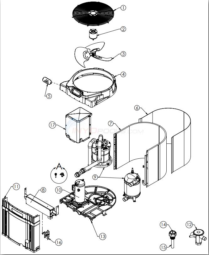 Heat Pump Parts Diagram : parts, diagram, AquaCal, Super, Quiet, Parts, INYOPools.com