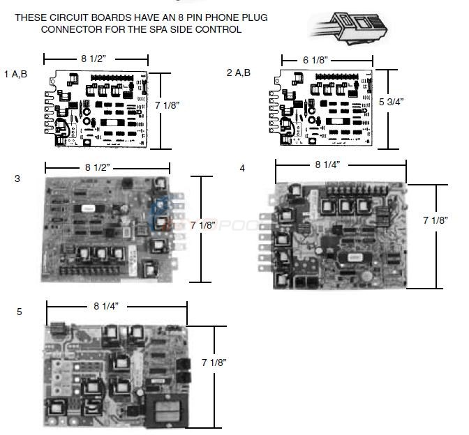 Balboa with 8 Pin Phone Plug Connector Parts  INYOPools