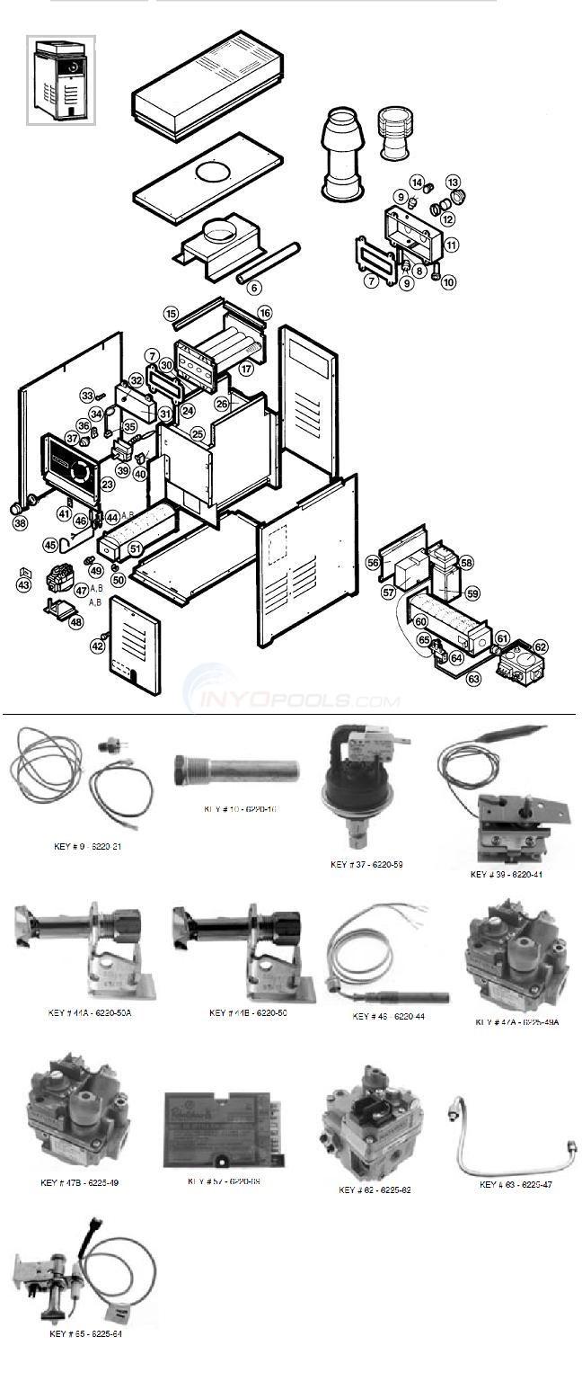 Comfortzone  Hayward Gas Heater Parts  INYOPools