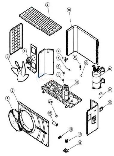 Heat Pump Parts Diagram : parts, diagram, Hayward, Above, Ground, HP50HA, Parts, INYOPools.com
