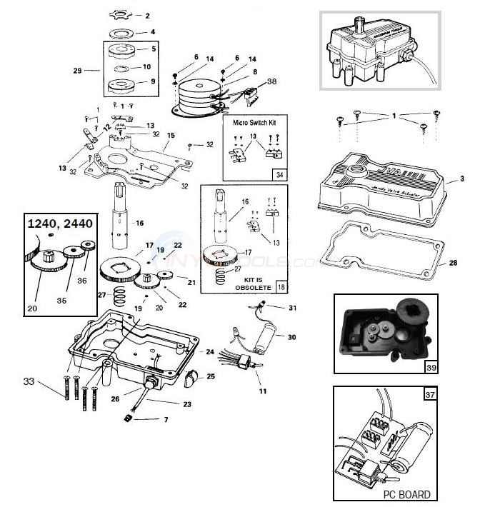 Jandy Valve Actuator Parts  INYOPools