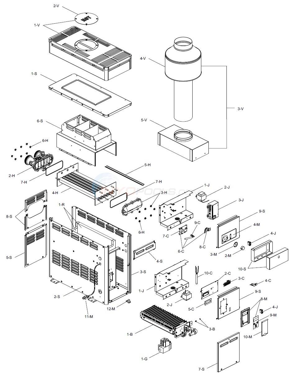 Raypak R106A & R156A (60113Current) Parts  INYOPools