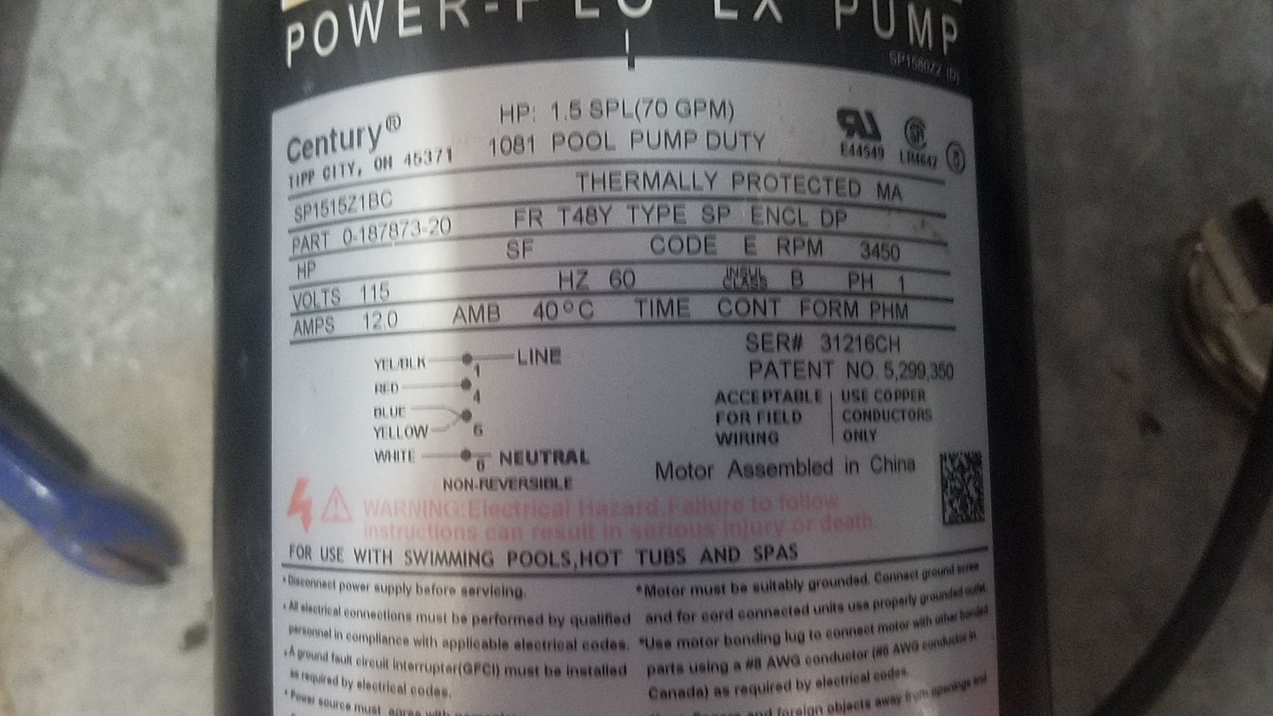 magnetek a o smith 1 5 hp thru bolt 48y motor bn35v1 inyopools com century bn35v1 motor wiring diagram electric [ 2560 x 1440 Pixel ]