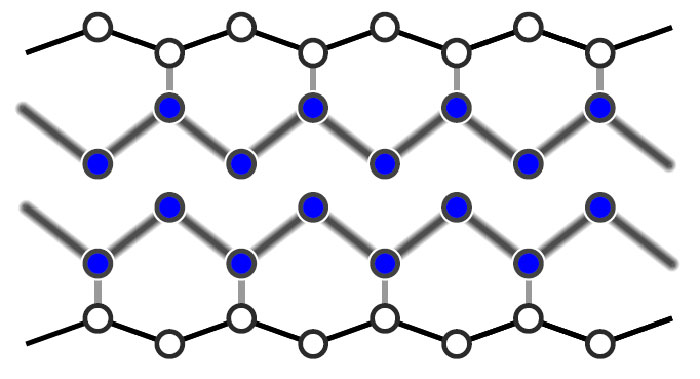 Laser pulse changes atomic wire from insulator to metal