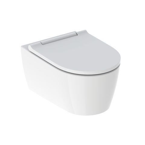 pack wc suspendu geberit one keratect soft closing quick release 370x343x540mm charnieres blanches