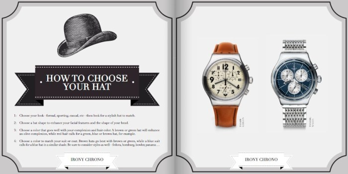 The Irony Gentleman's Guide : comment choisir son chapeau avec sa montre