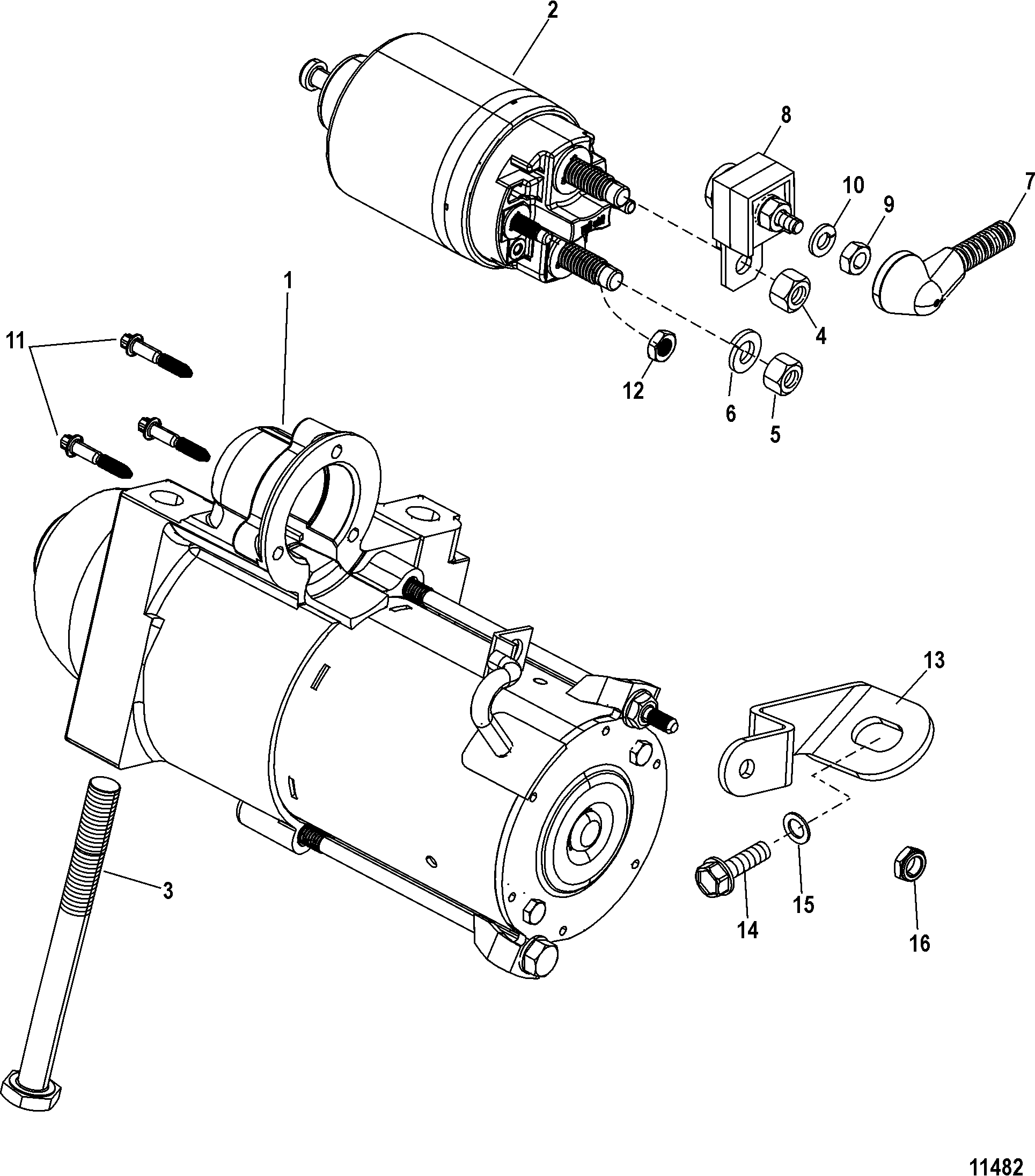 Starter Motor For Mercruiser 3 0l Alpha One