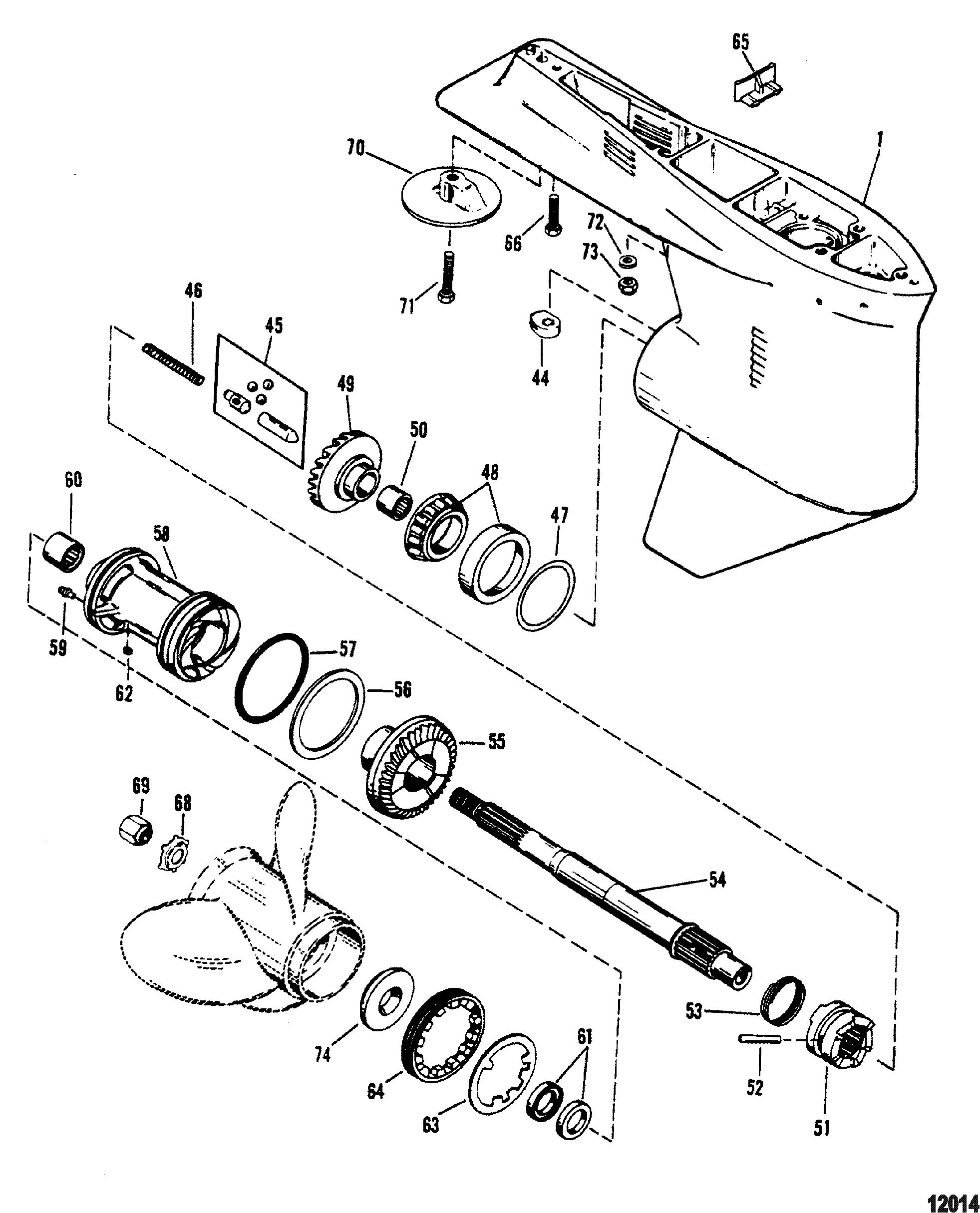 Gear Housing Prop Shaft 1.78:1 Gear Ratio 4.25 Torpedo Dia