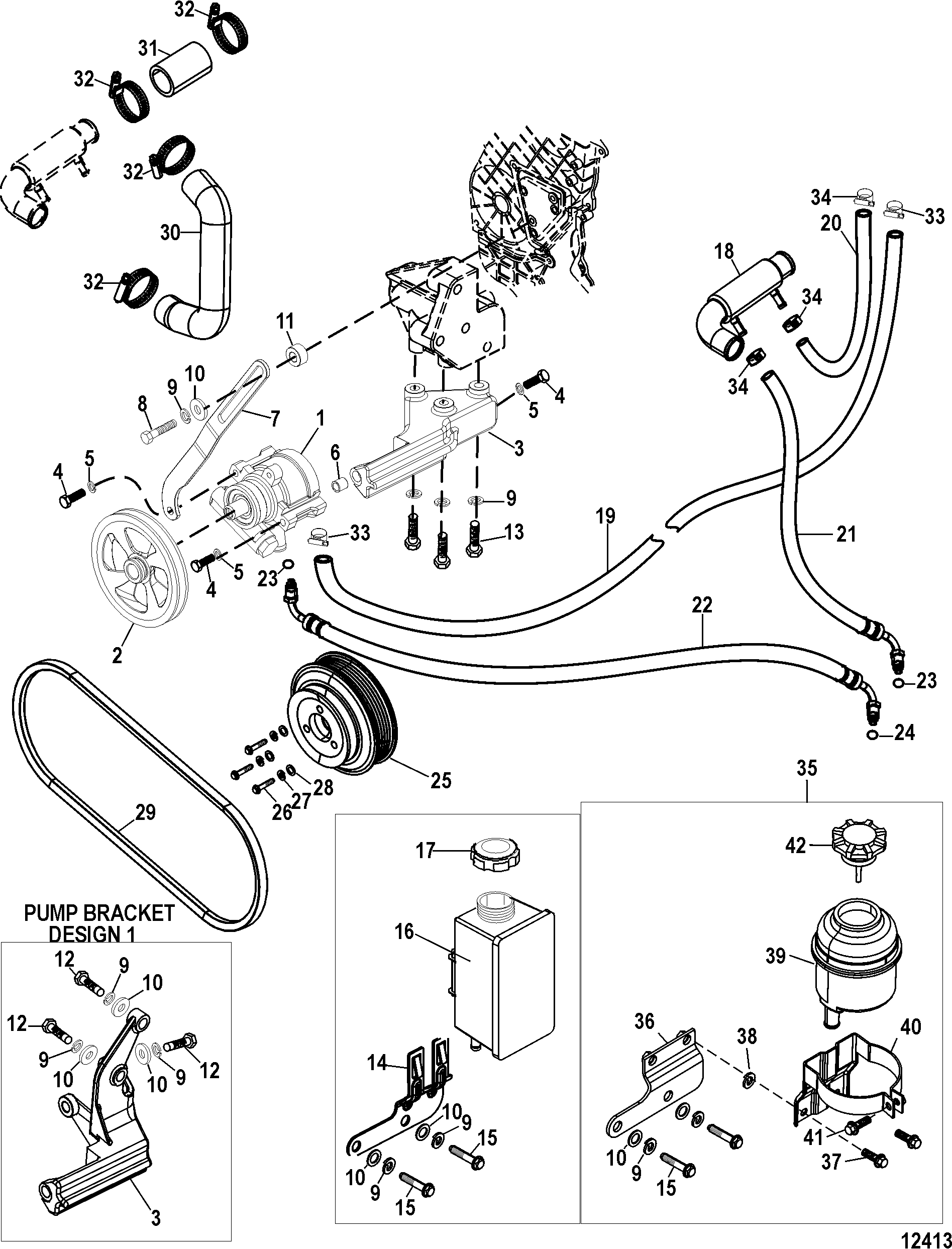 Power Steering Components FOR MERCRUISER / MIE CUMMINS