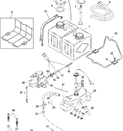 oil injection components for mariner mercury 135 140 150 1983 mercury outboard wiring diagram mercury black [ 1929 x 2416 Pixel ]
