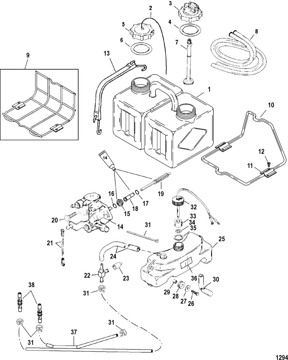 medium resolution of oil injection components for mariner mercury 135 140 150 1983 mercury outboard wiring diagram mercury black