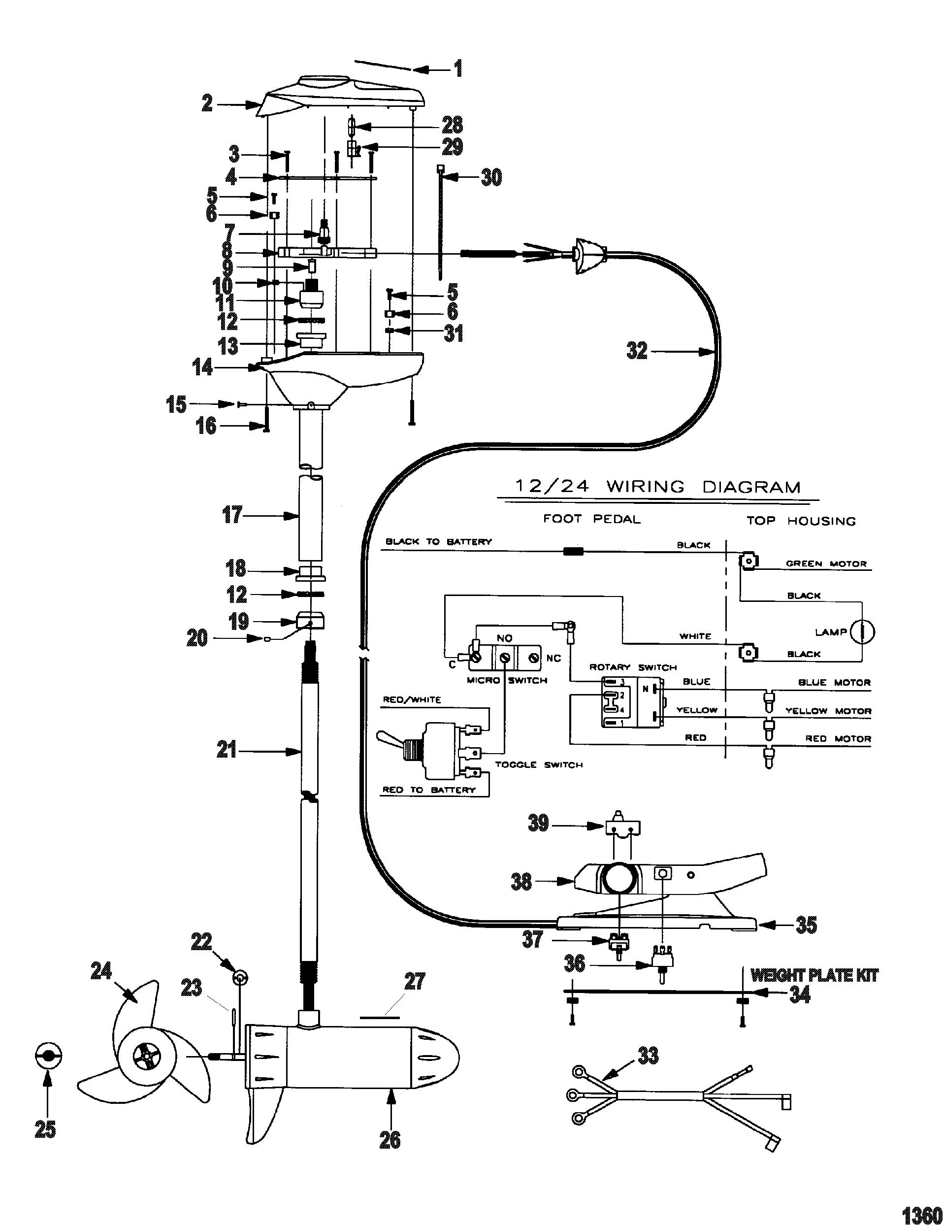 trolling motor wiring diagram 36 volt
