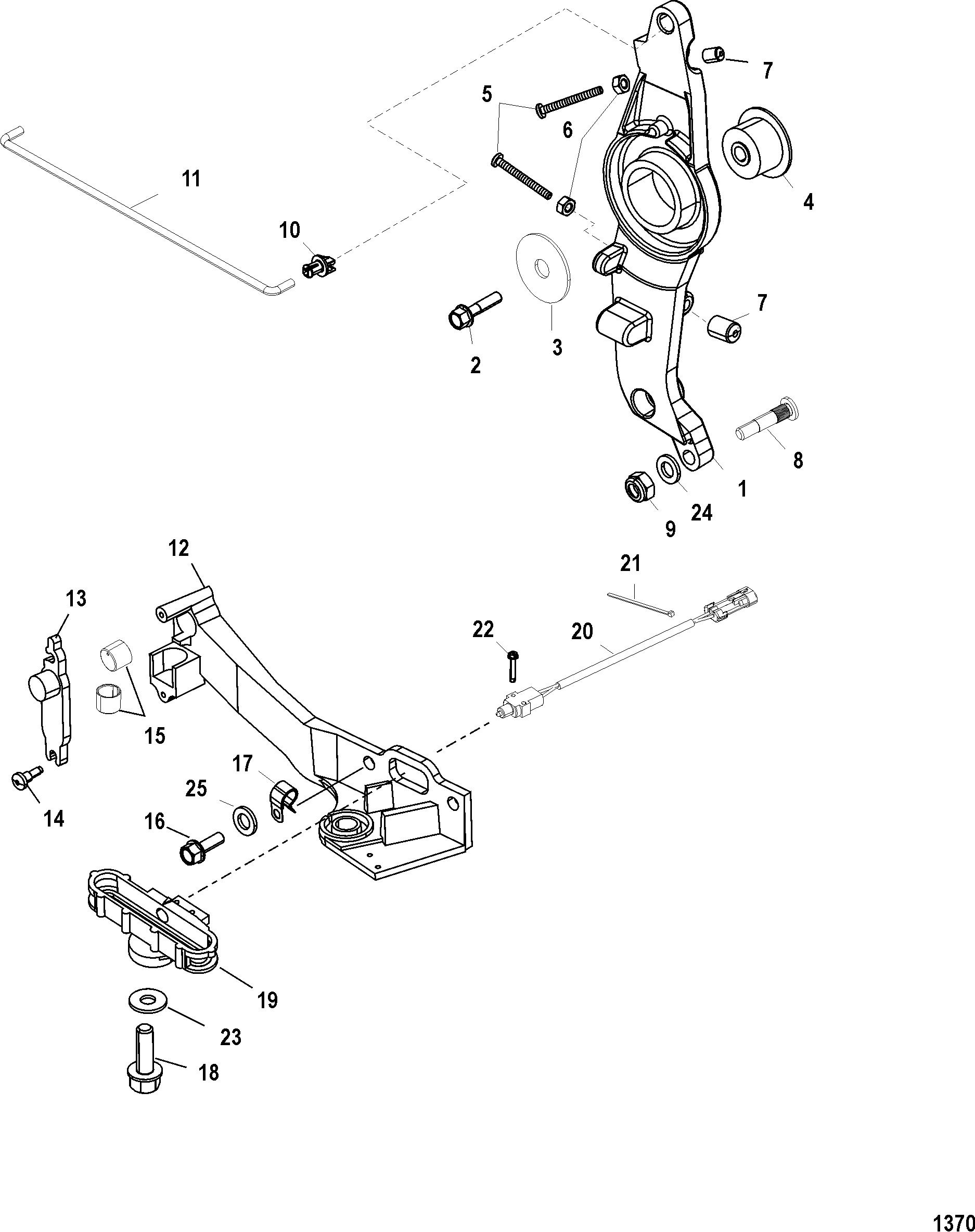 Throttle Linkage FOR MARINER / MERCURY 200/225/250 3.0L