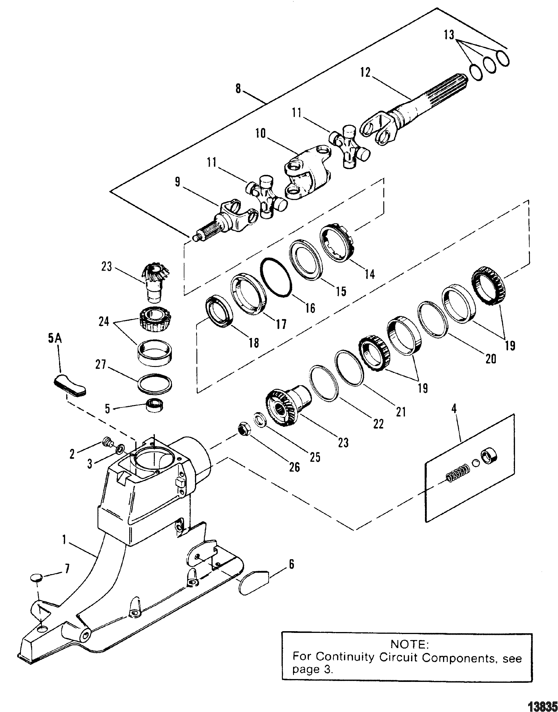 alpha 1 gen 2 parts diagram gy6 50cc scooter wiring drive shaft housing and gears for mercruiser