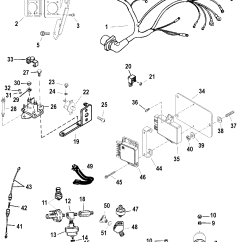 Mercruiser 5 7 Wiring Diagram Taser Circuit Harness And Electrical Components For