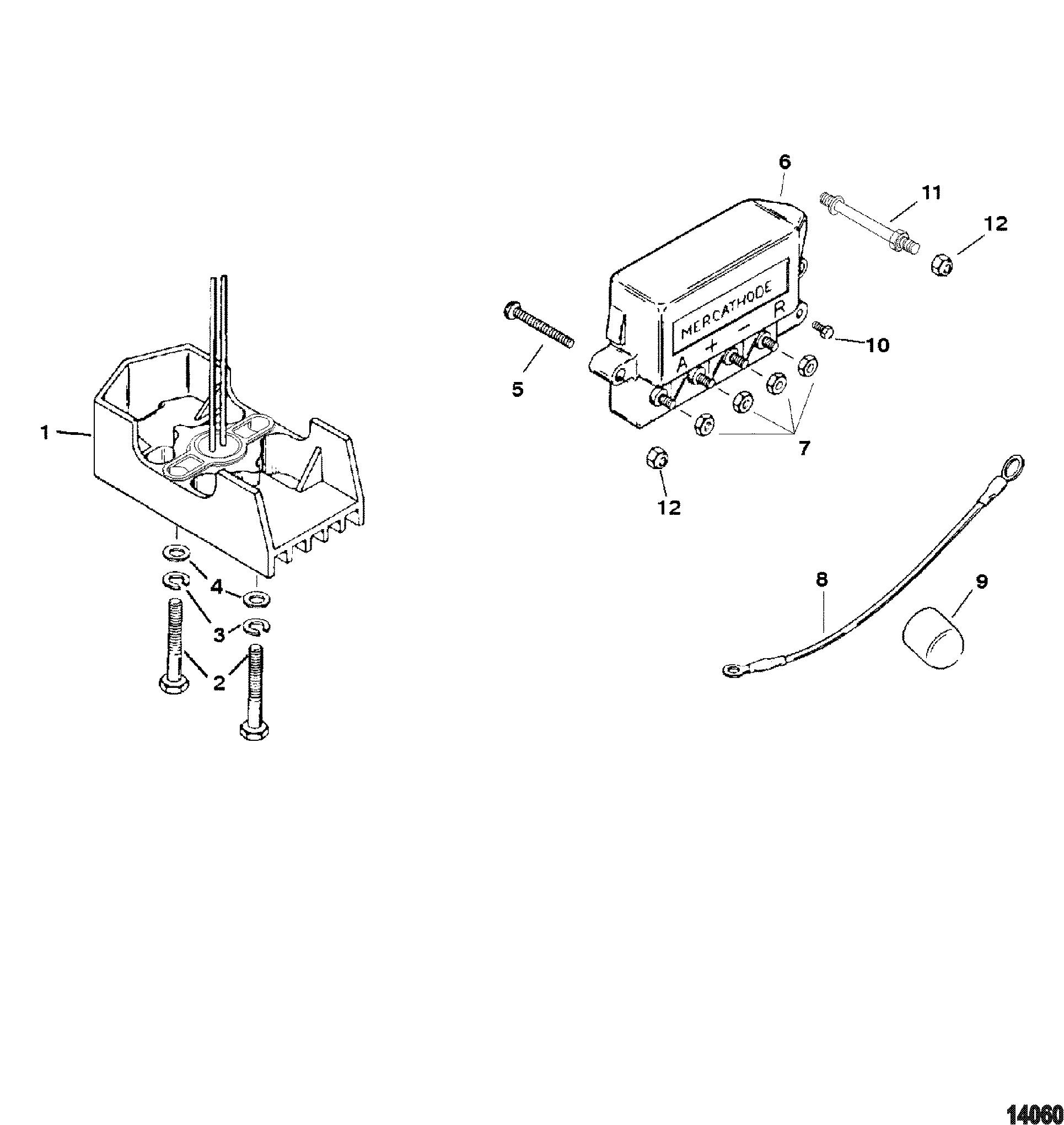 Mercathode Components FOR MERCRUISER 4.3L ALPHA/BRAVO 262