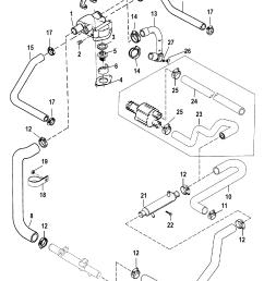 standard cooling system for mercruiser 5 0l efi alpha bravo 5 7l efi alpha bravo gen engine [ 1725 x 2295 Pixel ]
