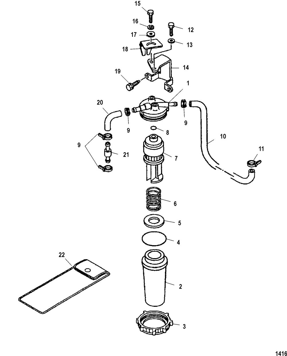 medium resolution of mercury 225 efi fuel filter