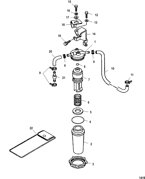small resolution of mercury 225 efi fuel filter