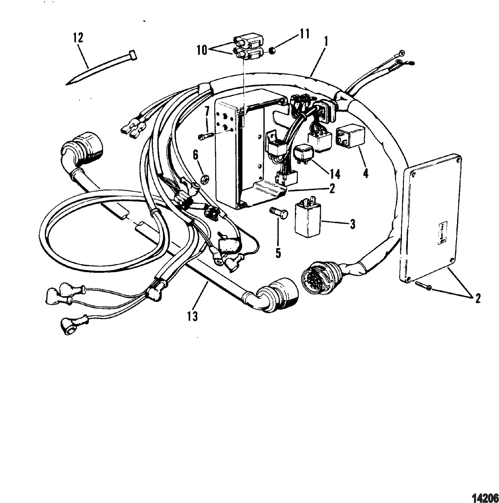 Motor Harness For Mercruiser Mie Cummins Mercruiser