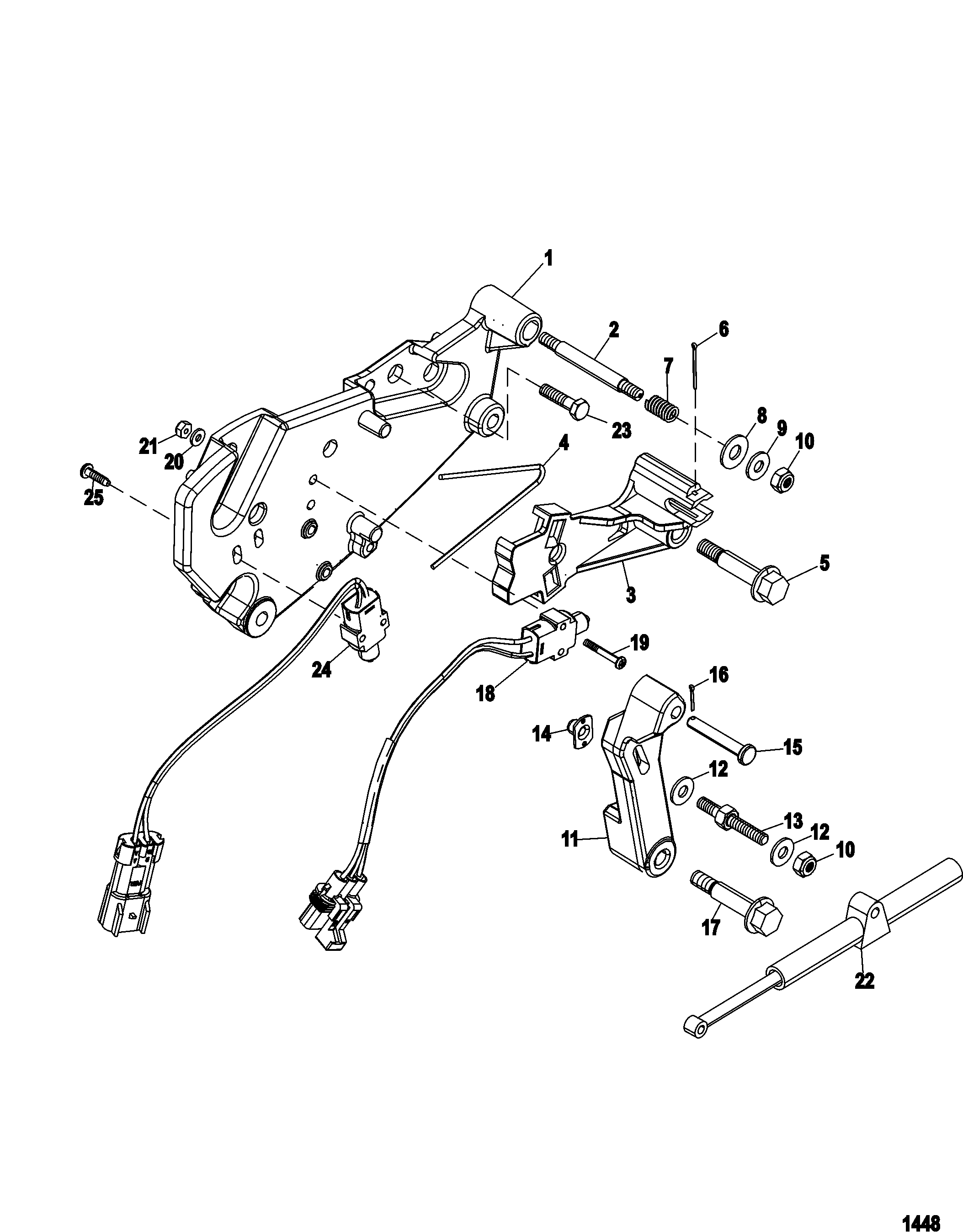 Shift Bracket Alpha Engines FOR MERCRUISER 4.3L MPI ALPHA