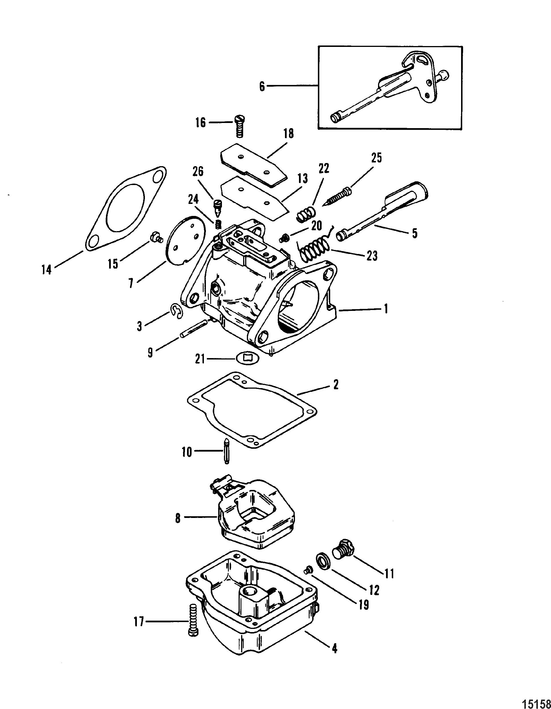 Carburetor FOR MARINER / MERCURY 70/75/80/90 HP 3 CYLINDER