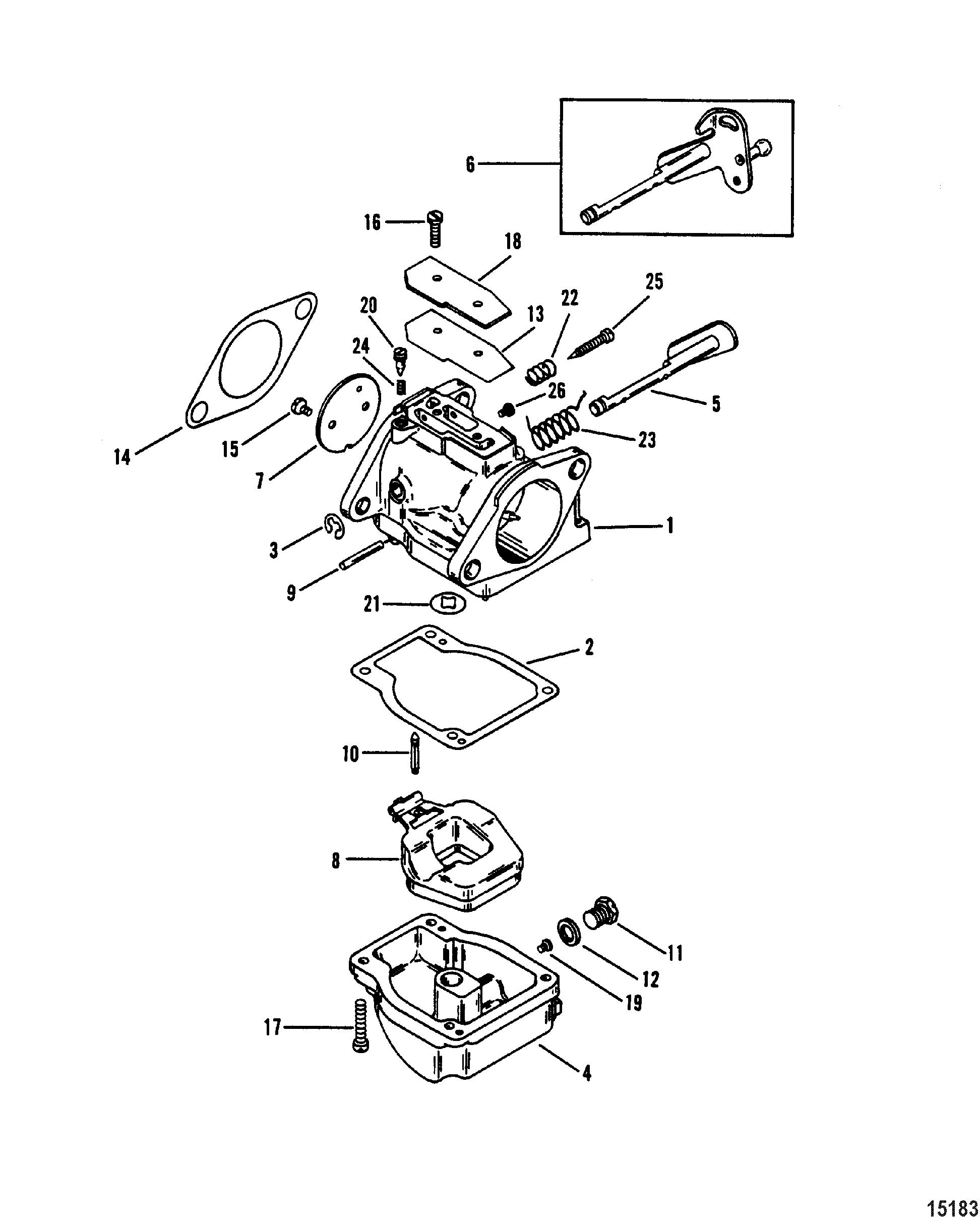 Carburetor for mariner mercury sea ray 100 115 h p 4 cylinder