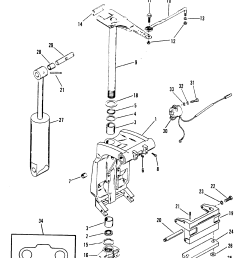 swivel bracket and steering arm for mariner mercury sea ray 100 diagram of 1990 mercury marine sea ray 9100412wd electrical components [ 1900 x 2461 Pixel ]