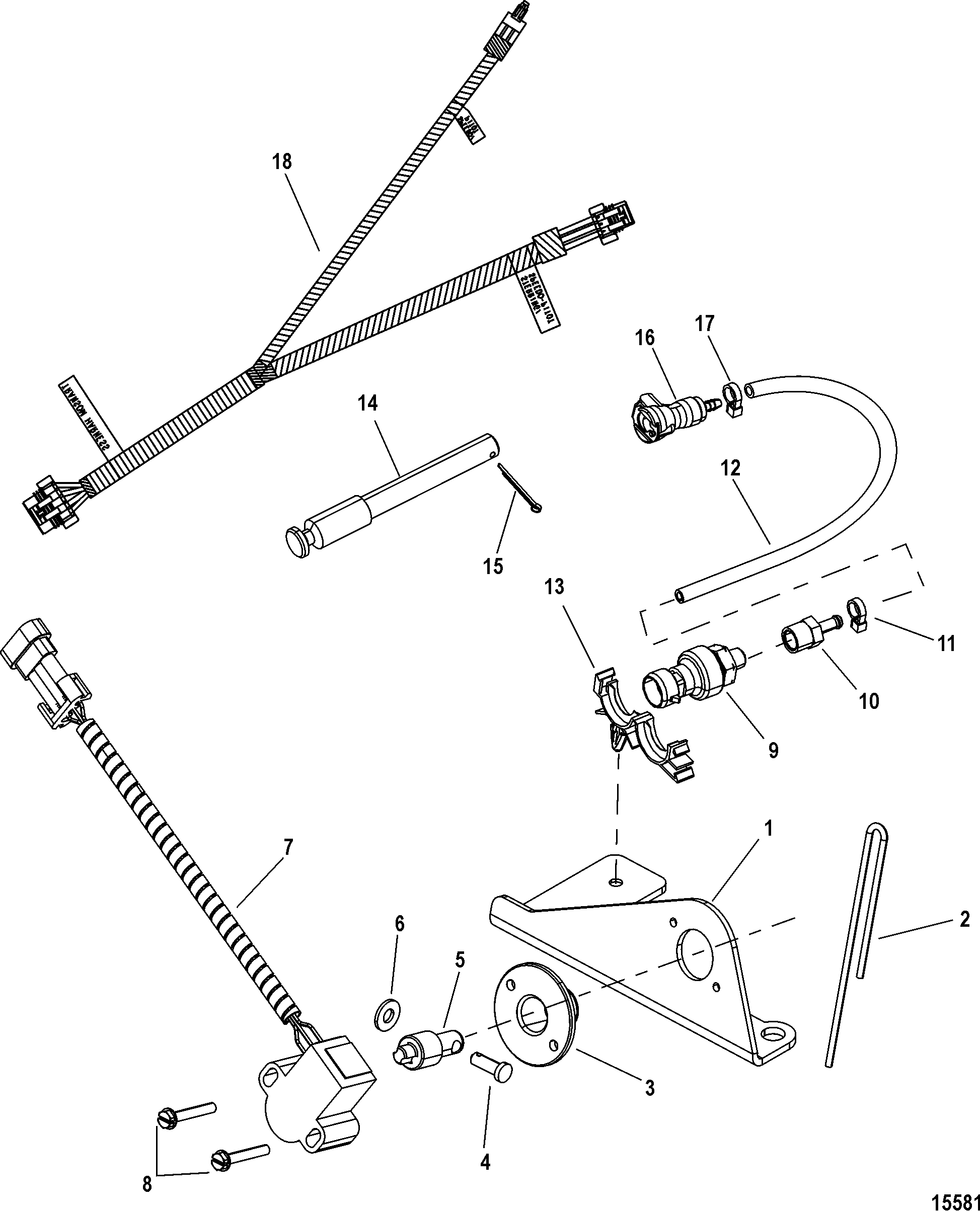 Sensor Assembly-Steering 863188A 3 FOR ELECTRICAL