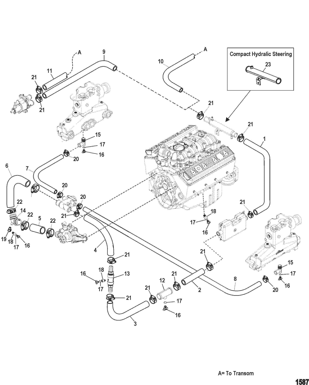 Standard Cooling System Multi Point Drain For Mercruiser 5