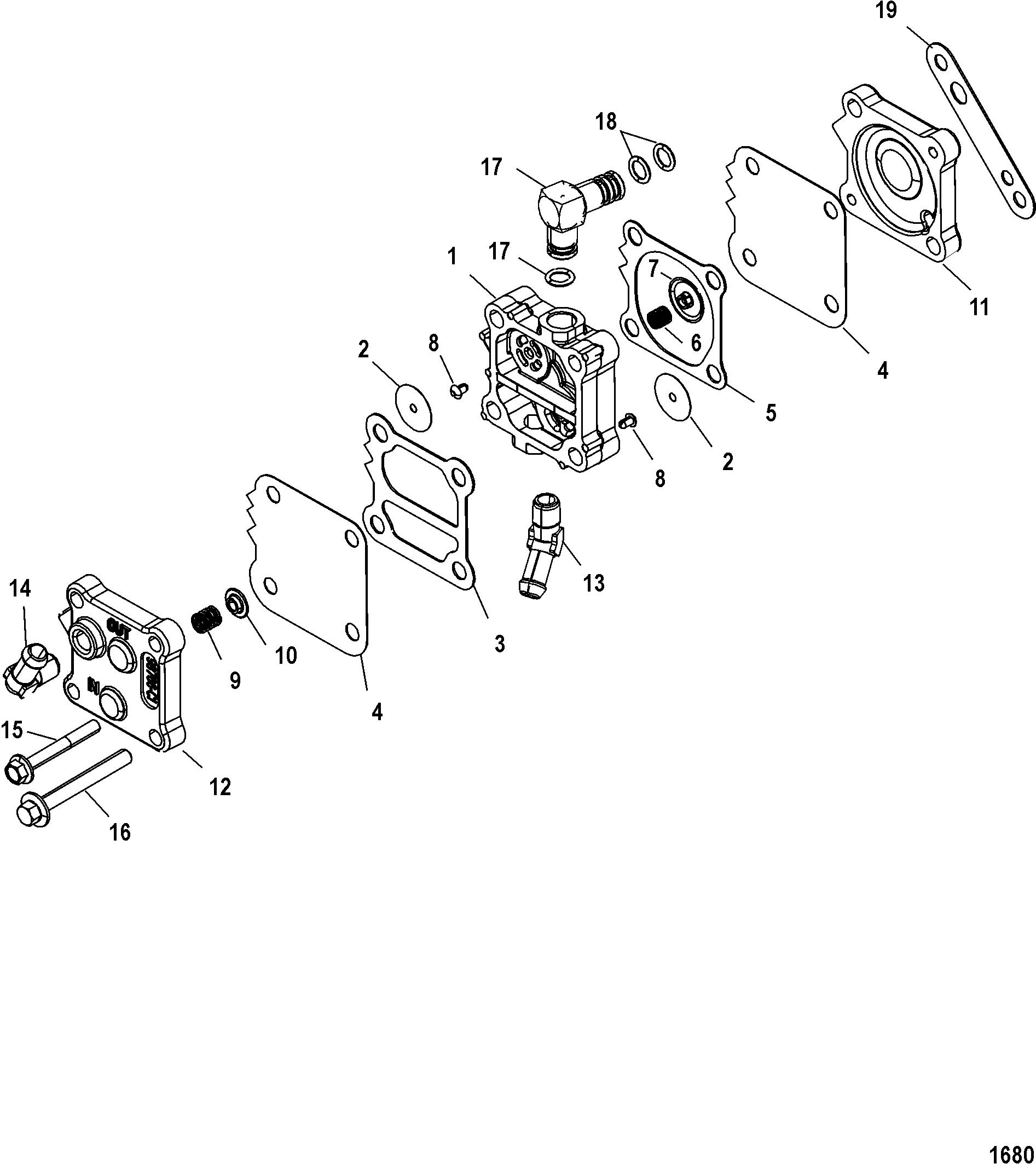 Fuel Pump FOR MARINER / MERCURY 75/90/115 DFI 1.5L 3 CYLINDER