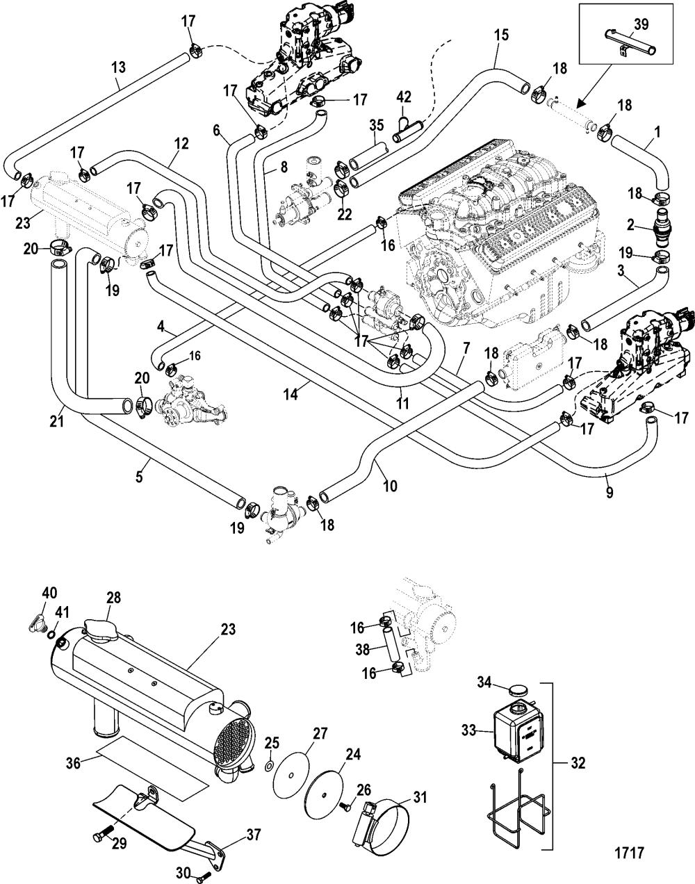 medium resolution of mercruiser 50 engine diagram thermostat
