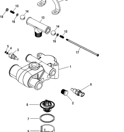 mercruiser 50 engine diagram thermostat [ 1631 x 2425 Pixel ]