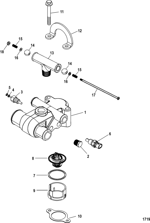 small resolution of mercruiser 50 engine diagram thermostat